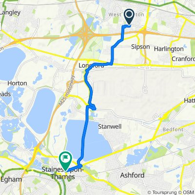 9 Keats Way, West Drayton to Mustard Mill Road, Staines-upon-Thames