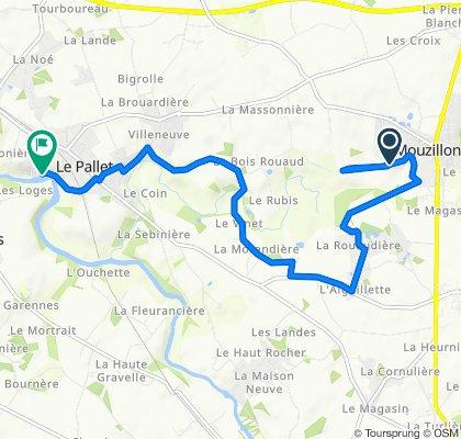 De Route de la Motte 20, Mouzillon à Rue de la Vallée 10, Le Pallet
