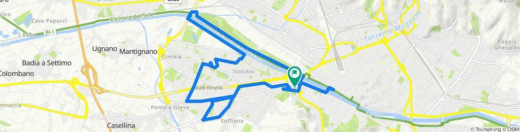 Percorso riposante in Firenze