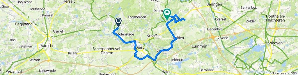 Gematigde route in Diest