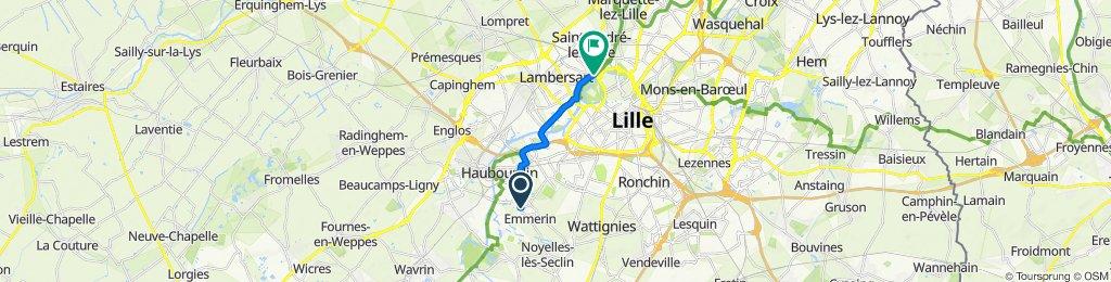 Itinéraire facile en Saint-André-lez-Lille