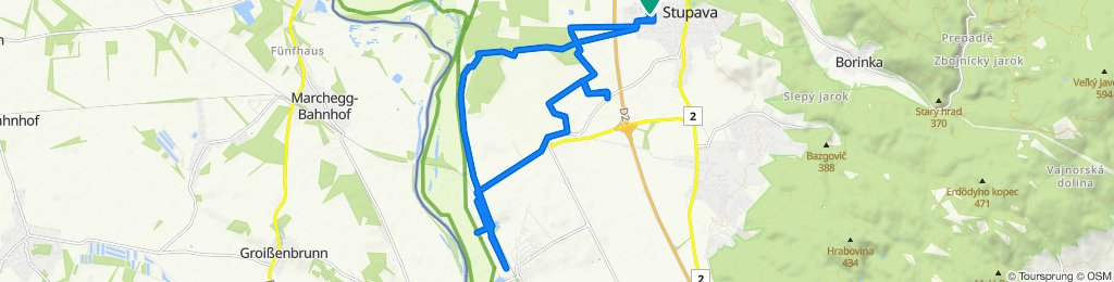 Uvoľnená trasa Stupava