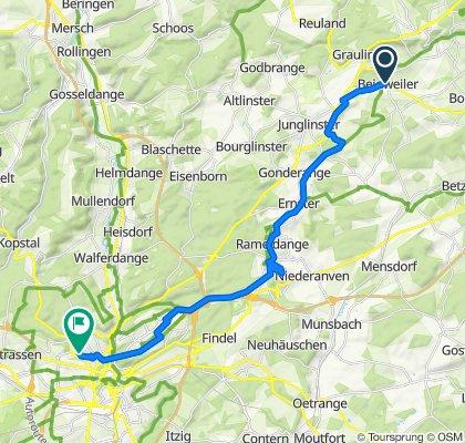 Itinéraire modéré en Luxembourg