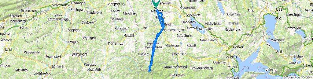 Langsame Fahrt in Altishofen