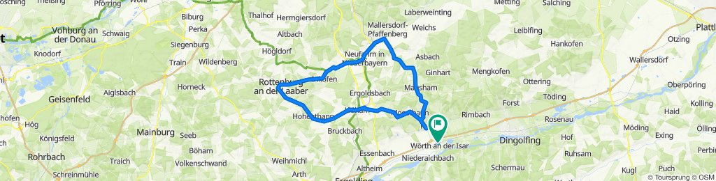 Wörth-Hohethann-Türkenfeld-Rottenburg-Inkofen-Ettenkofen-Nehfahrn-Oberlindhart-Oberellenbach-Bayerbach-Wörth