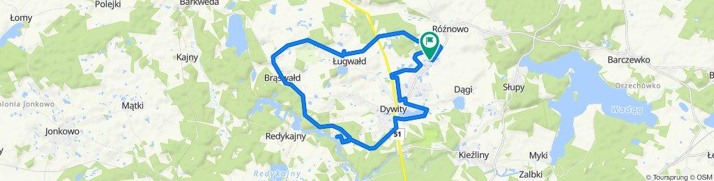 Spokojna trasa do Dywity