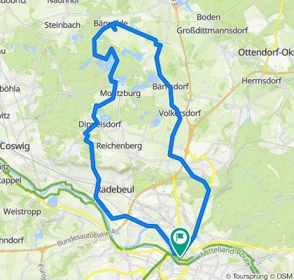 Von Dresden nach Bärwalde u. zurück