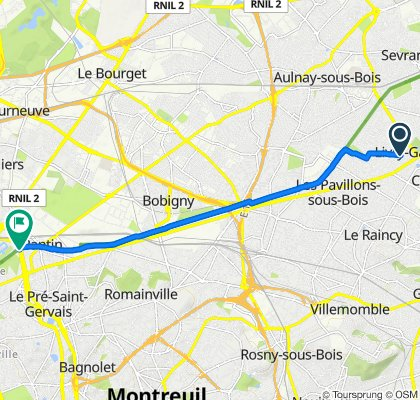 Supersonic route in Paris