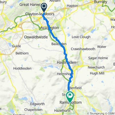 48 Clayton Way, Accrington to King Street, Bury