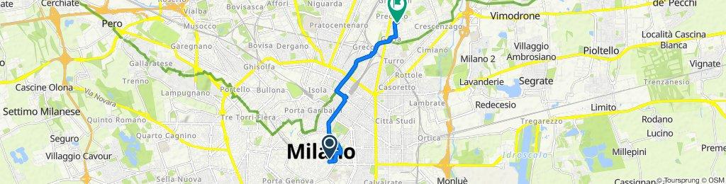 Giro a velocità costante in Milano