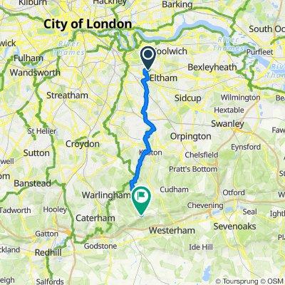 London SE3 9FD to Beddlestead Ln