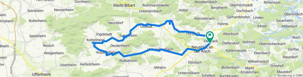 Diespeck - Markt Nordheim und über Obernesselbach zurück