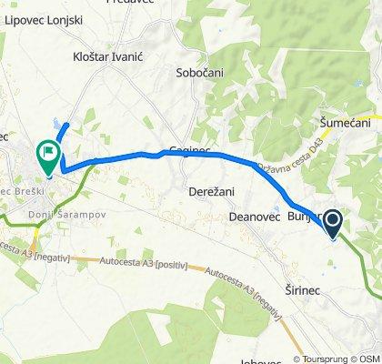 Širinečka ulica 4, Bunjani to Savska ulica 8, Ivanić Grad
