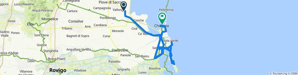 Da Via V. Emanuele III 18, Codevigo a Calle Santa Croce 1227, Chioggia