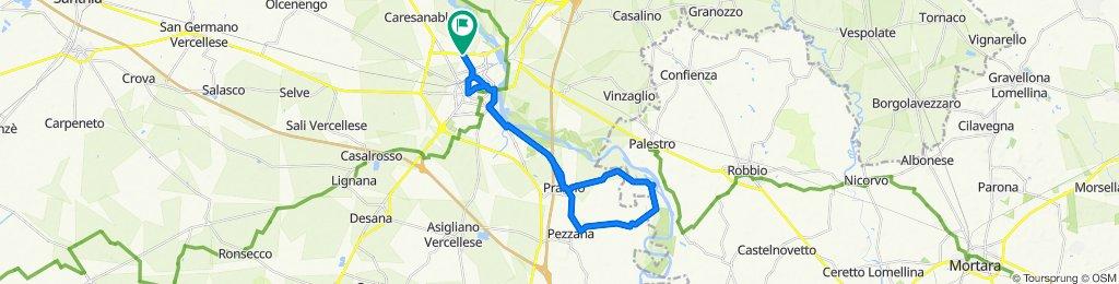 Percorso rilassato in Vercelli