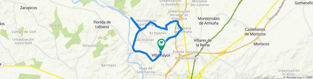 Paseo rápido en Villamayor