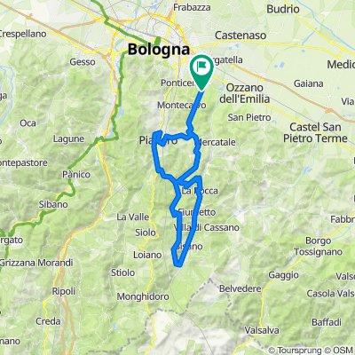 Val di Zena, PIanoro, Zula, Zena, Quinzano, Val d'Idice, rientro via Monte Formiche