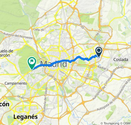 De Calle Budapest 11, Madrid a Calle Villasandino 16, Madrid