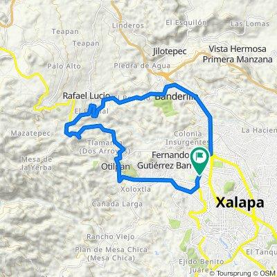 Ruta constante en Otilpan-Tlalnelhuayocan