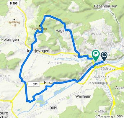 Tübingen Wurmlingen und zurück