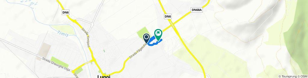 Strada Făgetului 86, Lugoj to Strada Dimitrie Bolintineanu 25, Lugoj