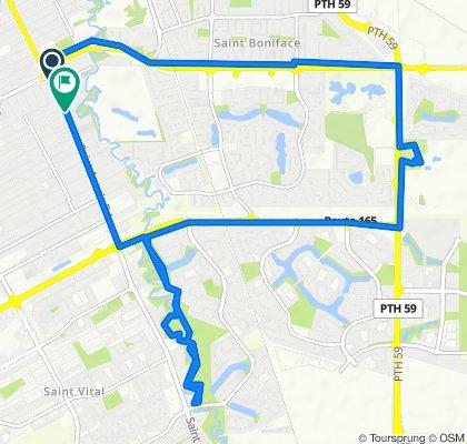 259 St Anne's Rd, Winnipeg to 185 Fernwood Ave, Winnipeg