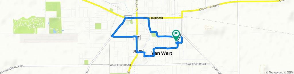 Moderate route in Van Wert
