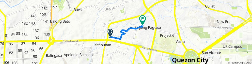 Ilocos Norte 2, Lungsod Quezon to Road 1 254, Quezon City