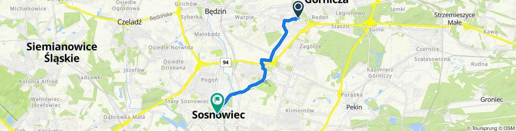 Dojazdowa 33, Dąbrowa Górnicza do Aleja Zwycięstwa 20, Sosnowiec