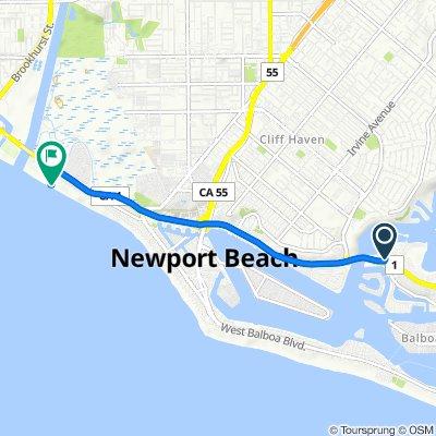 Steady ride in Newport Beach