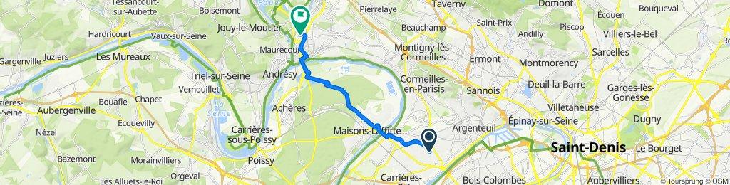 De Rue Maurice Berteaux 237, Bezons à Rue de l'Hautil 1, Conflans-Sainte-Honorine