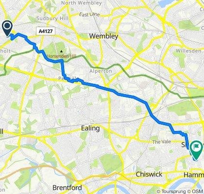 Northolt to 41 Iffley Road