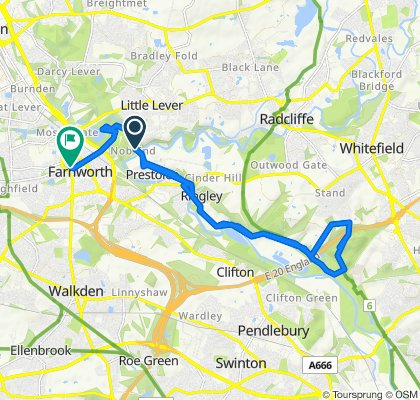 Manchester, Bolton & Bury Canal Towpath, Radcliffe to Wellington Street 31, Farnworth