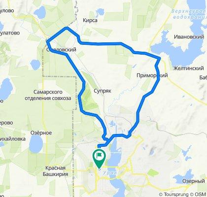 От улица Суворова 129/2, Магнитогорск до улица Суворова 129, Магнитогорск