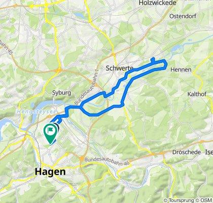 Hagener Straße 132B nach Heinrich-Heine-Straße 41, Hagen