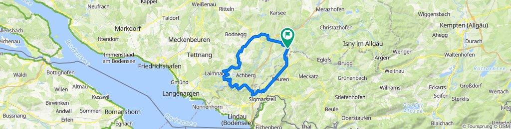 Wangen - Hergensweiler - Oberlangnau - Neukirch - Amtzell - Wangen