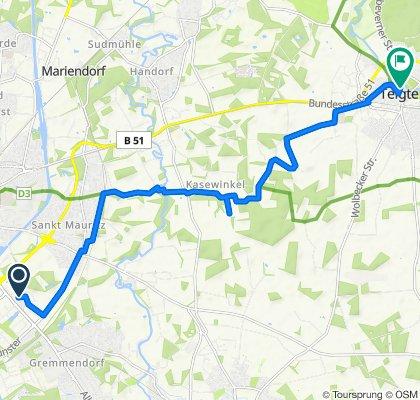 Rikeweg 7, Münster nach Kapellenstraße 3, Telgte