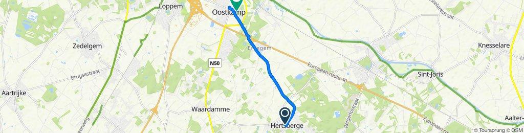 Hertsberge Kerk, Oostkamp to Stationsstraat 61, Oostkamp
