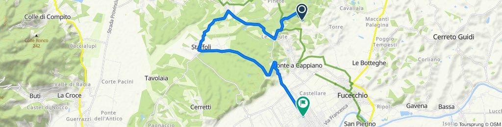 Percorso ad alta velocità in Santa Croce sull'Arno