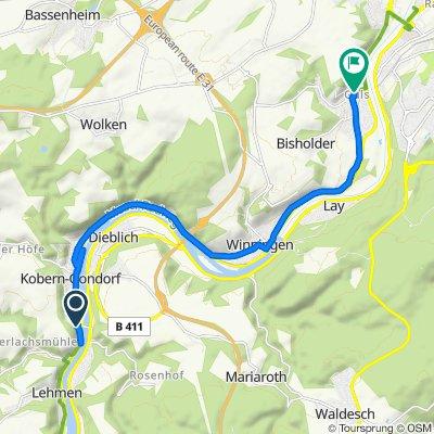 Gemütliche Route in Koblenz