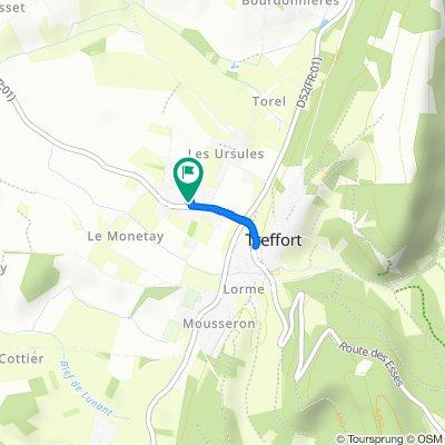 Itinéraire vers Le Monétay 341, Val-Revermont
