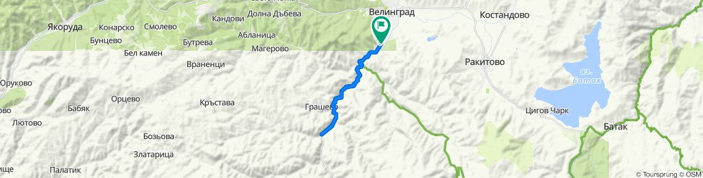 Moderate route in Velingrad