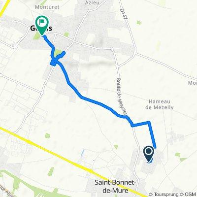 Itinéraire modéré en Saint-Bonnet-de-Mure