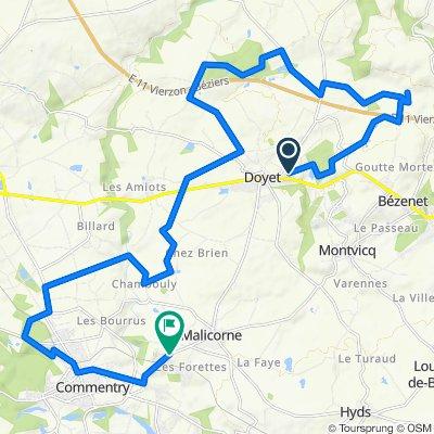 De Rue Marceau 20, Doyet à Route de Malicorne 172, Commentry