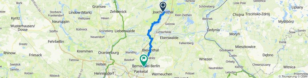 FRW Berlin - Usedom von Nord nach Süd: Joachimstal - Bernau