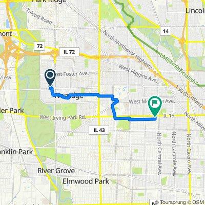 4856 N Chester Ave, Norridge to 3951–3999 N Major Ave, Chicago