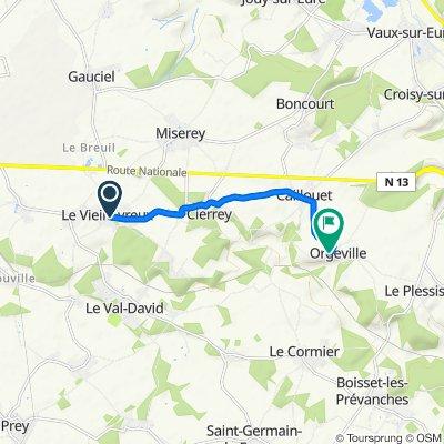 Visite rapide en Caillouet-Orgeville
