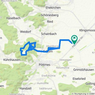 Gerade Fahrt in Königsmoos
