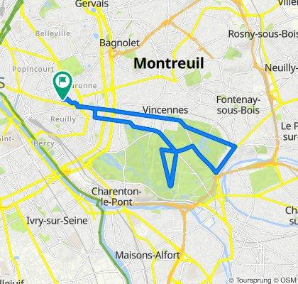 250 Boulevard Voltaire, Paris to 62 Rue de Montreuil, Paris