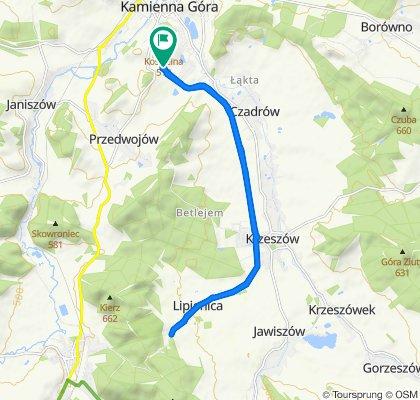 Kamienna Góra - Lipienica -Kamienna Góra